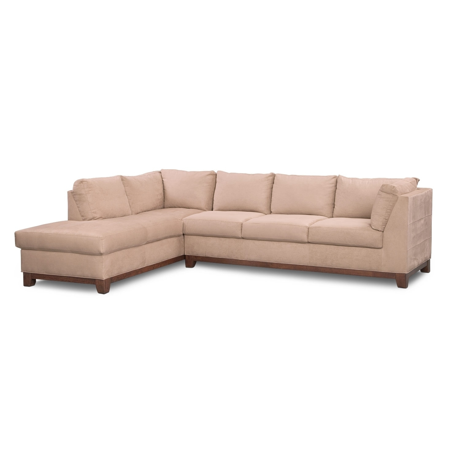 Soho 2 Piece Sectional With Left Facing Chaise – Cobblestone | Value Inside Arrowmask 2 Piece Sectionals With Sleeper & Right Facing Chaise (Image 23 of 25)