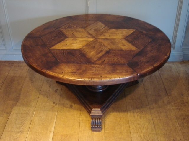 Sold/antique French Circular Oak Centre Table – Antique Dining Tables Inside Circular Oak Dining Tables (View 18 of 25)