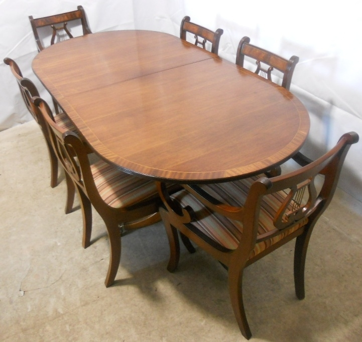 Sold – Regency Style Mahogany Extending Dining Table And Matching Regarding Mahogany Extending Dining Tables And Chairs (Image 19 of 25)