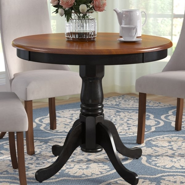 Solid Cherry Dining Table | Wayfair Regarding Jaxon 5 Piece Extension Round Dining Sets With Wood Chairs (Image 25 of 25)