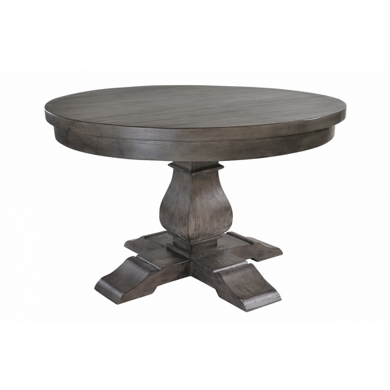 Solid Dark Wood 130Cm Round Dining Table | Bradford Throughout Solid Dark Wood Dining Tables (Image 22 of 25)