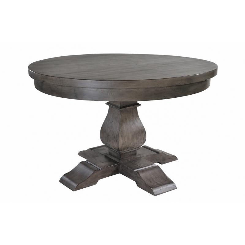 Solid Dark Wood 130Cm Round Dining Table | Bradford Throughout Solid Dark Wood Dining Tables (View 20 of 25)