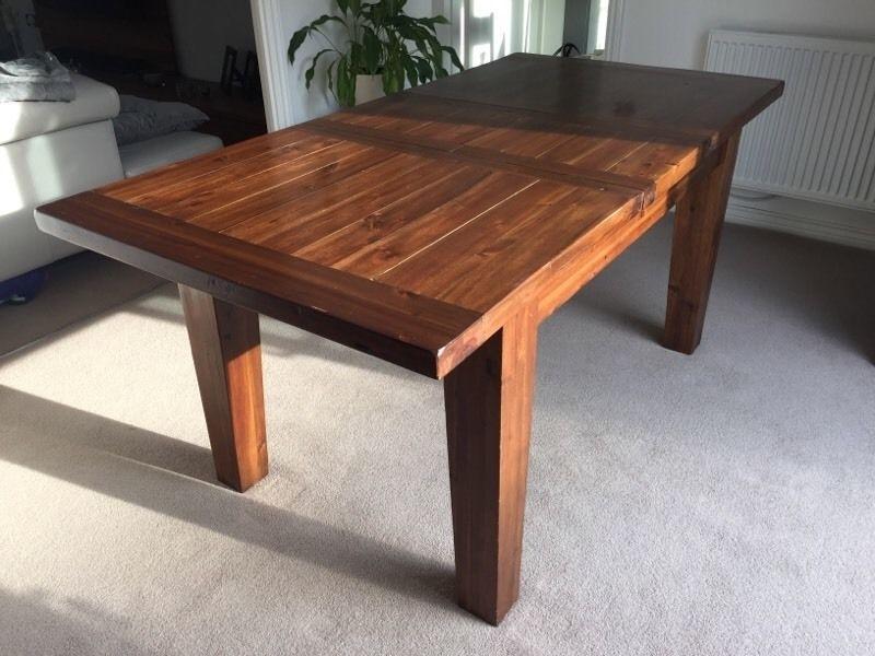 Solid Dark Wood Extending D Solid Dark Wood Dining Table Unique With Solid Dark Wood Dining Tables (View 8 of 25)
