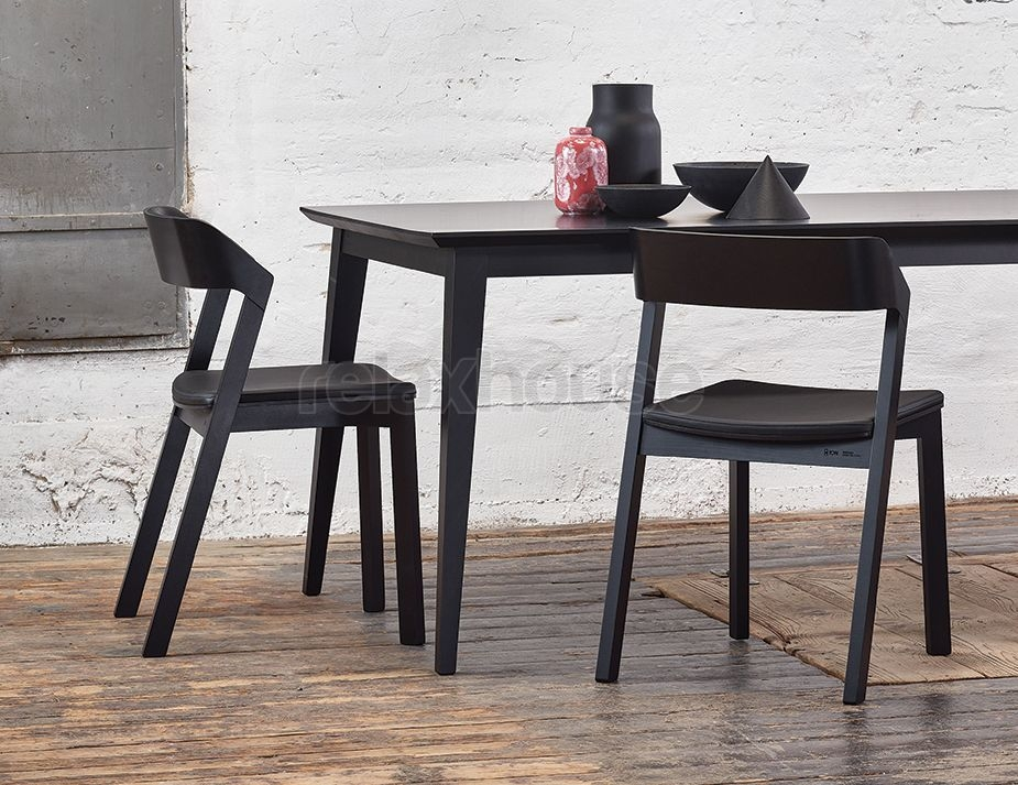 Solid European Beechwood Black Dining Table Throughout Black Dining Tables (Image 22 of 25)