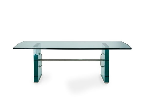 Solid Glass Dining Tablepietro Chiesa For Fontana Arte, 1934 For With Regard To Helms 7 Piece Rectangle Dining Sets (View 19 of 25)
