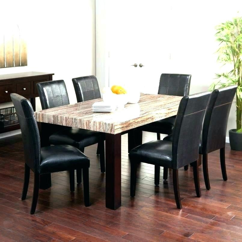 Solid Marble Dining Table Black Set Granite Room Top Italian Within Solid Marble Dining Tables (View 9 of 25)