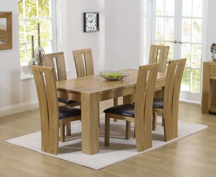 Solid Oak 180Cm Dining Table With 6 Dining Chairs (Thames / Montreal Regarding Chunky Solid Oak Dining Tables And 6 Chairs (Image 21 of 25)