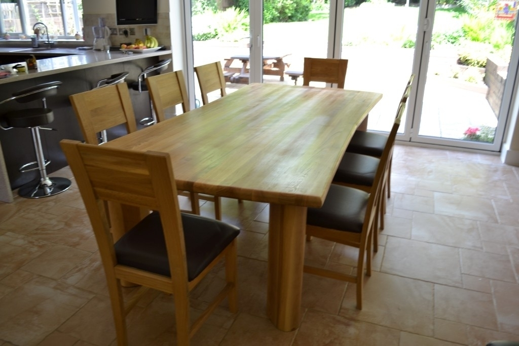 Solid Oak Dining Room Table And 8 Chairs | Home Design Interior Regarding 8 Seater Oak Dining Tables (View 17 of 25)