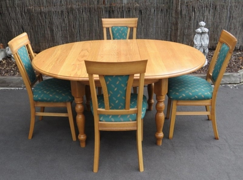 Solid Oak Dining Suite | Trade Me Regarding Oak Dining Suite (Image 21 of 25)