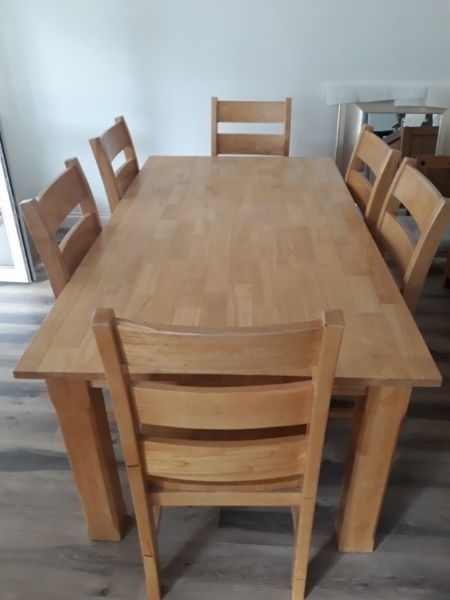 Solid Oak Dining Table 6 Chairs | Dublin | Gumtree Classifieds Intended For Oak Dining Tables With 6 Chairs (Image 20 of 25)
