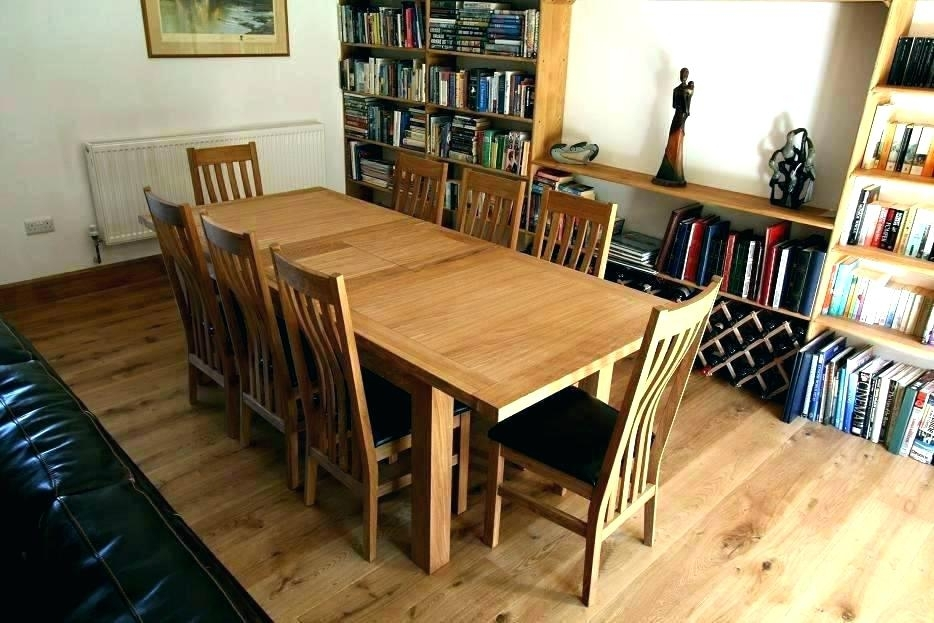 Solid Oak Dining Table And 8 Chairs – Opdalingen With Regard To Oak Dining Tables And 8 Chairs (Image 22 of 25)