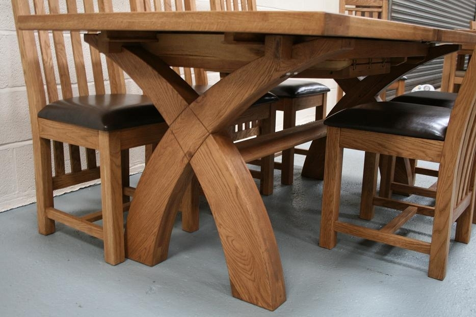 Solid Oak Dining Table Set – Castrophotos Pertaining To Oak Furniture Dining Sets (Image 21 of 25)
