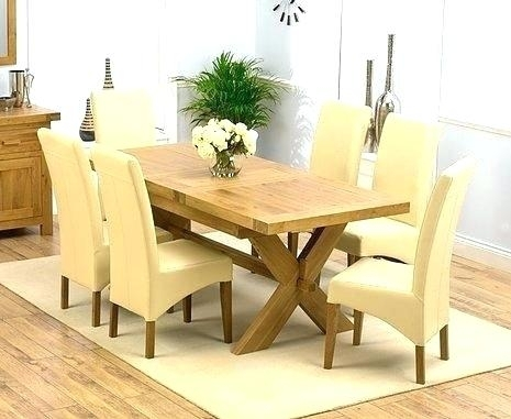 Solid Oak Extending Dining Table And 6 Chairs Round Room For In Oak Extending Dining Tables And 6 Chairs (View 20 of 25)