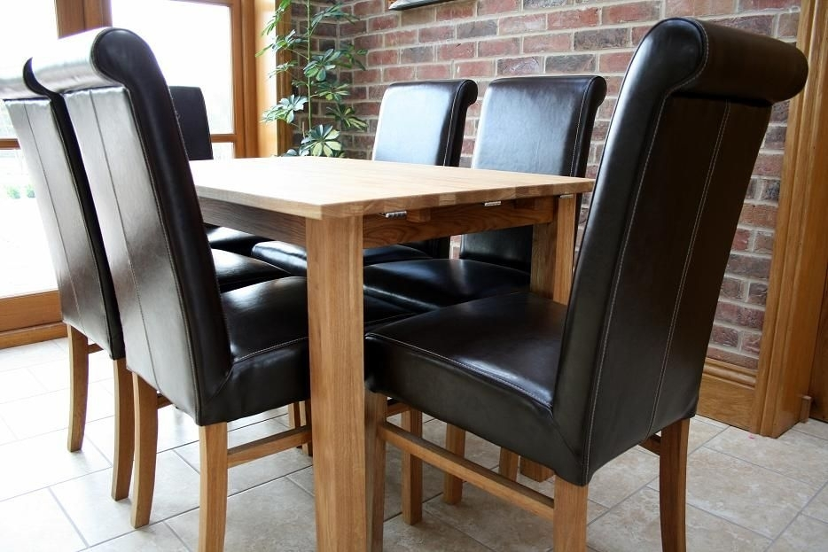 Solid Oak Kitchen Tables & Chairs | Cheapest Prices For Oak Dining Tables And Leather Chairs (Image 19 of 25)