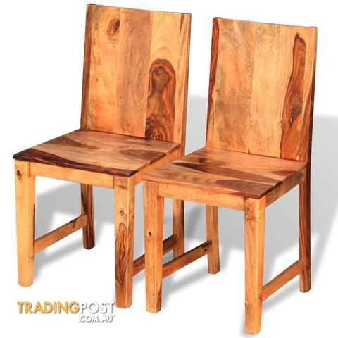 Solid Sheesham Wood Dining Chairs (Set Of 2) For Sale In Armadale Wa Pertaining To Sheesham Wood Dining Chairs (Image 23 of 25)