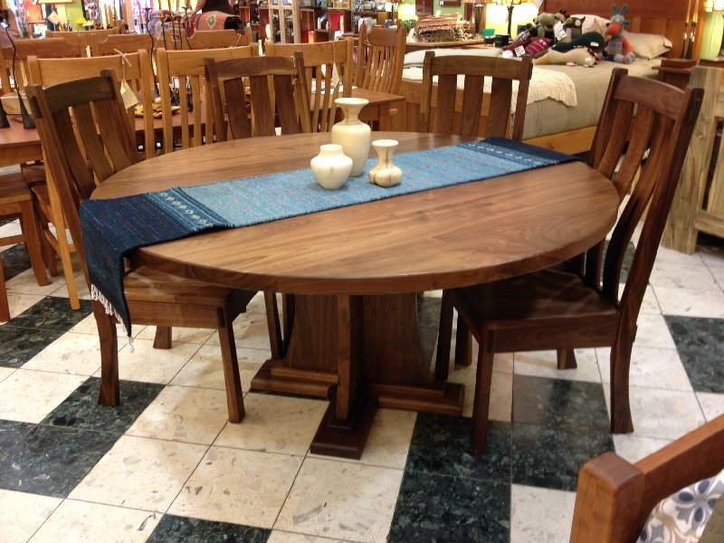 """Solid Walnut """"craftsman"""" Round Pedestal Table 