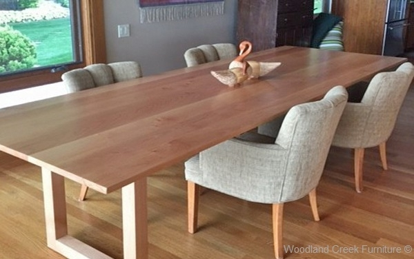 Solid Wood Contemporary Dining Table, Custom Made Dining Table Within Contemporary Dining Furniture (View 10 of 25)