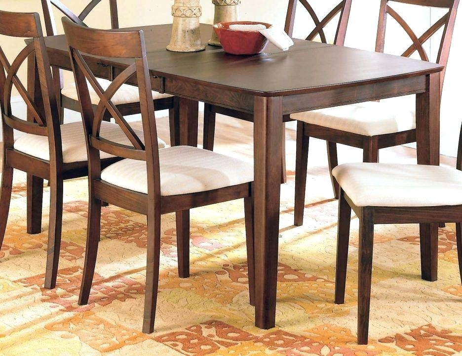 Solid Wood Dining Suites Furniture Large Room Tables And Chairs Sets In Parquet 7 Piece Dining Sets (Image 24 of 25)