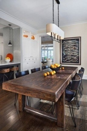 Solid Wood Dining Table – Visualizeus With Dark Solid Wood Dining Tables (View 21 of 25)