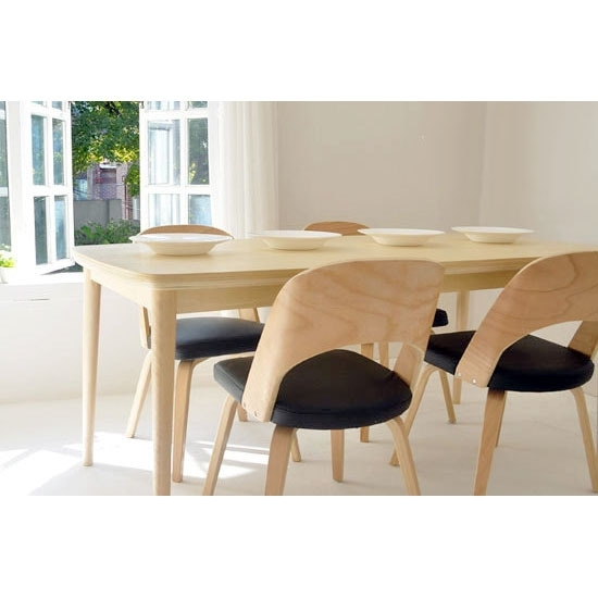 Solid Wood Dining Tables And Chairs Dining Chair Scandinavian Modern With Birch Dining Tables (View 10 of 25)