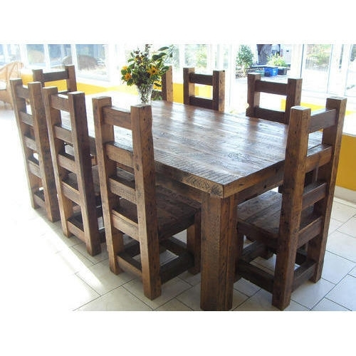 Solid Wood Dining Tables At Rs 59999 /set | Wooden Dining Table | Id Within Solid Oak Dining Tables (Image 24 of 25)