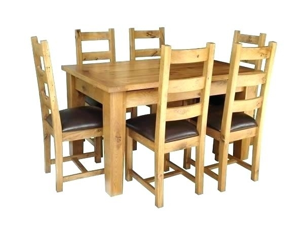 Solid Wood Extending Dining Table And 6 Chairs Kitchen Oak Ebay With Regard To Extendable Dining Tables And Chairs (View 20 of 25)
