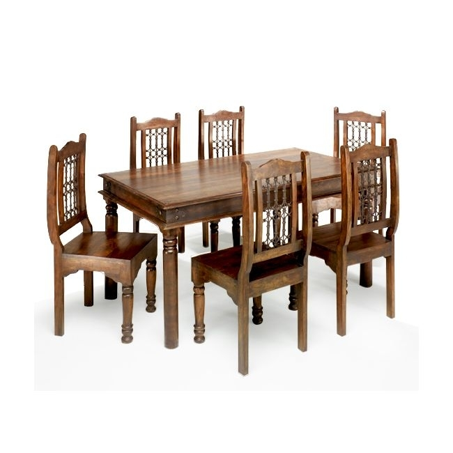 Solid Wood Indian Jalidar Dining Table , Jalidar Dining Table With Indian Wood Dining Tables (View 24 of 25)