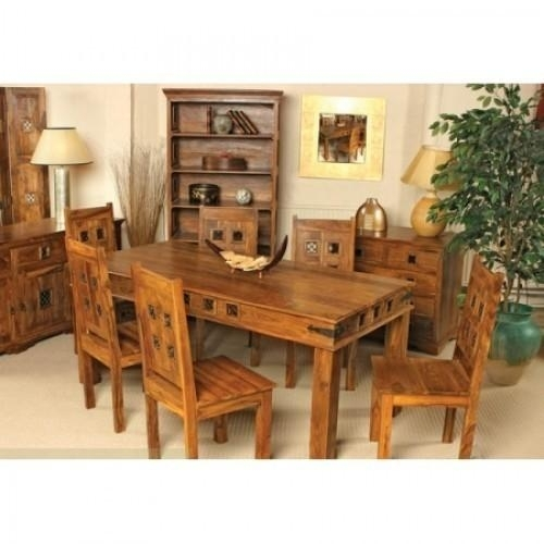 Solid Wood Six Seater Dining Table At Rs 40000 | Sirsa | Id: 13552293930 Pertaining To Sheesham Dining Tables And 4 Chairs (View 19 of 25)