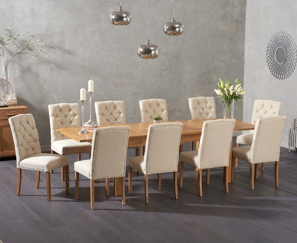 Somerset 180Cm Oak Extending Dining Table With Candice Fabric Chairs Throughout Candice Ii Extension Rectangle Dining Tables (Image 21 of 25)
