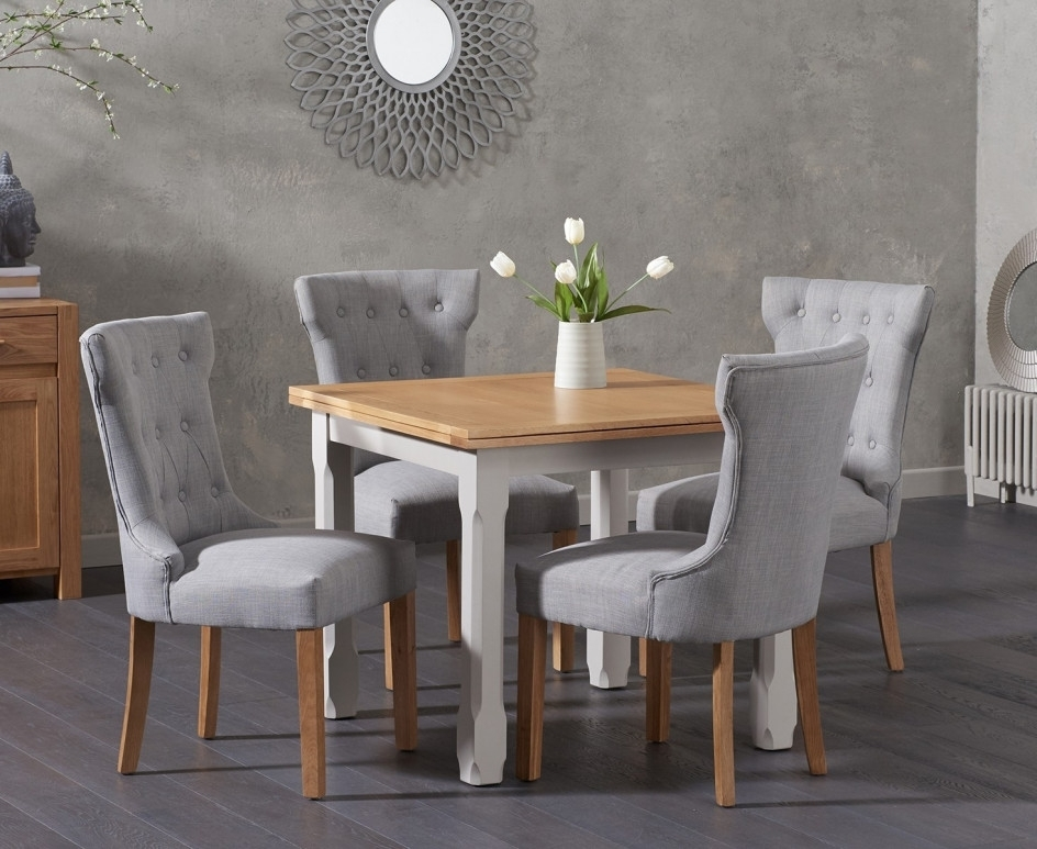 Somerset 90Cm Flip Top Oak And Grey Dining Table With Cora Grey With Cora Dining Tables (View 17 of 25)