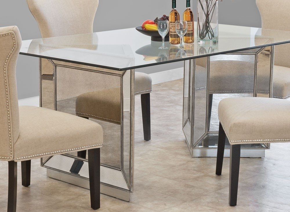 Sophia Mirrored Dining Table Collection In Mirror Glass Dining Tables (Image 22 of 25)