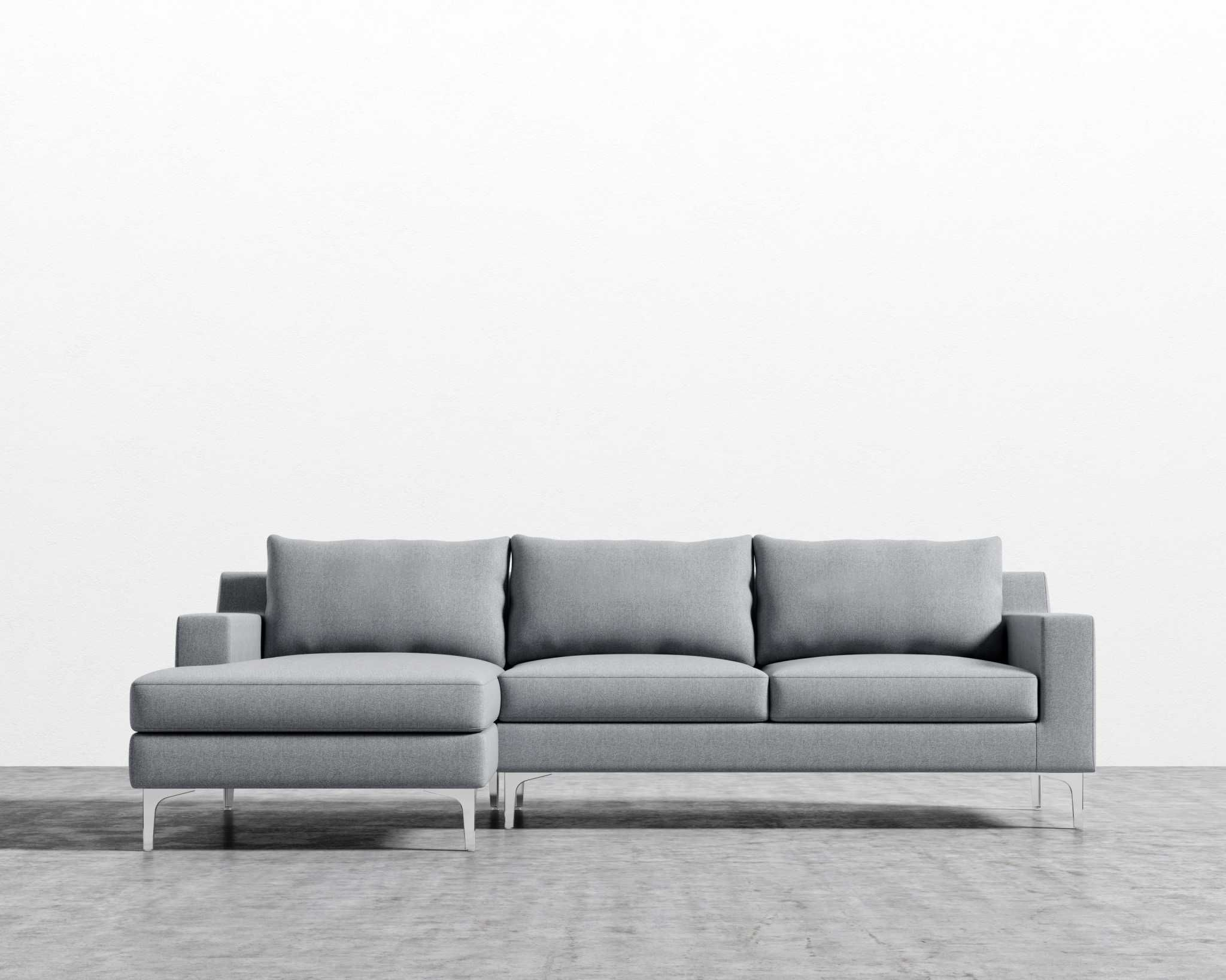 Sophia Sectional | Rove Concepts Sandro Mid Century Furniture With Nico Grey Sectionals With Left Facing Storage Chaise (Image 23 of 25)