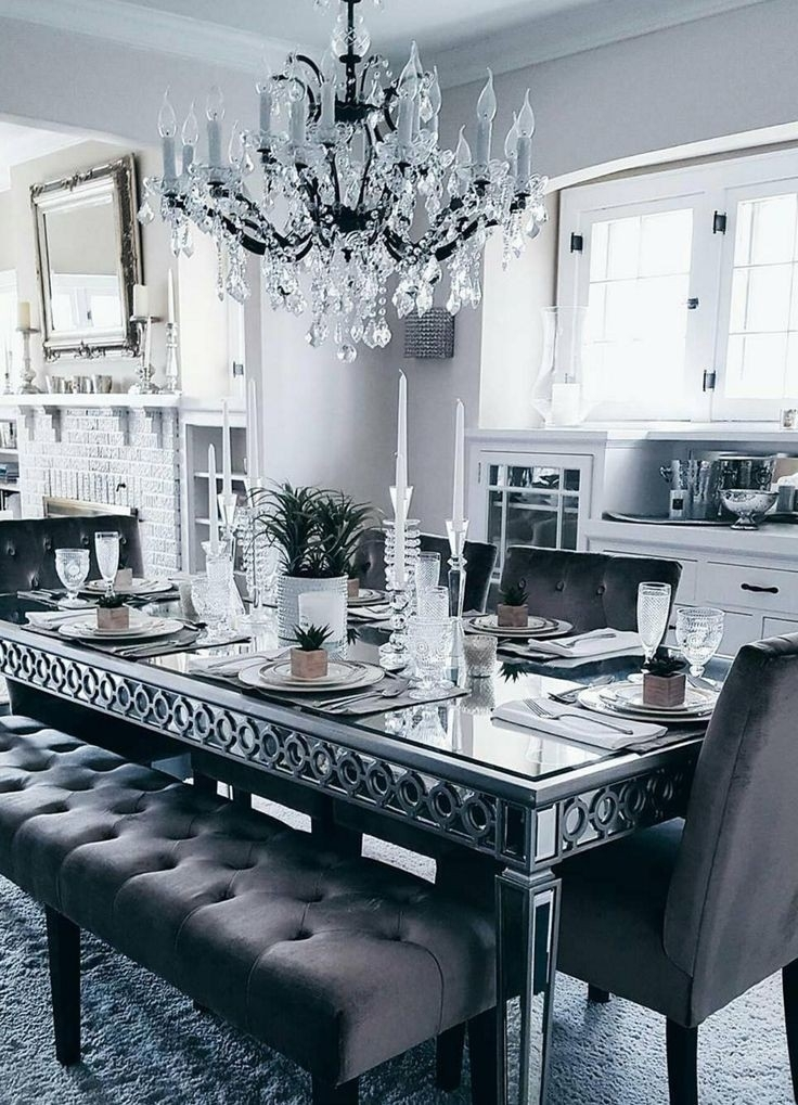 Sophie Mirrored Dining Table Fresh Best 25 Glass Dining Table Ideas Pertaining To Mirrored Dining Tables (Image 19 of 25)