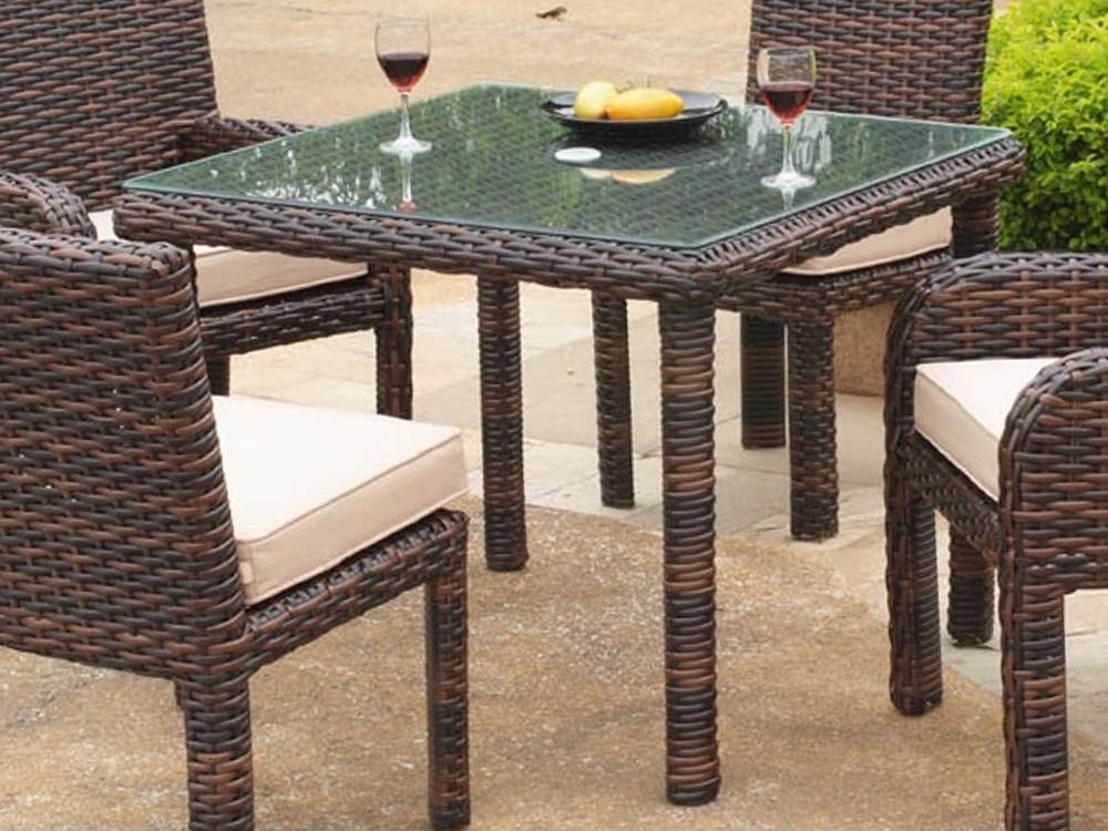 South Sea Rattan Saint Tropez Wicker Square Dining Table – Wicker With Rattan Dining Tables (Image 23 of 25)