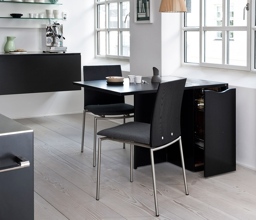 Space Saving Compact Gateleg Table – Skovby A1101 – Wharfside With Regard To Compact Dining Sets (View 5 of 25)