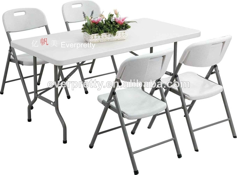 Space Saving Dining Table And Chairs /6Ft Folding Dining Table And Intended For Folding Dining Table And Chairs Sets (Image 23 of 25)