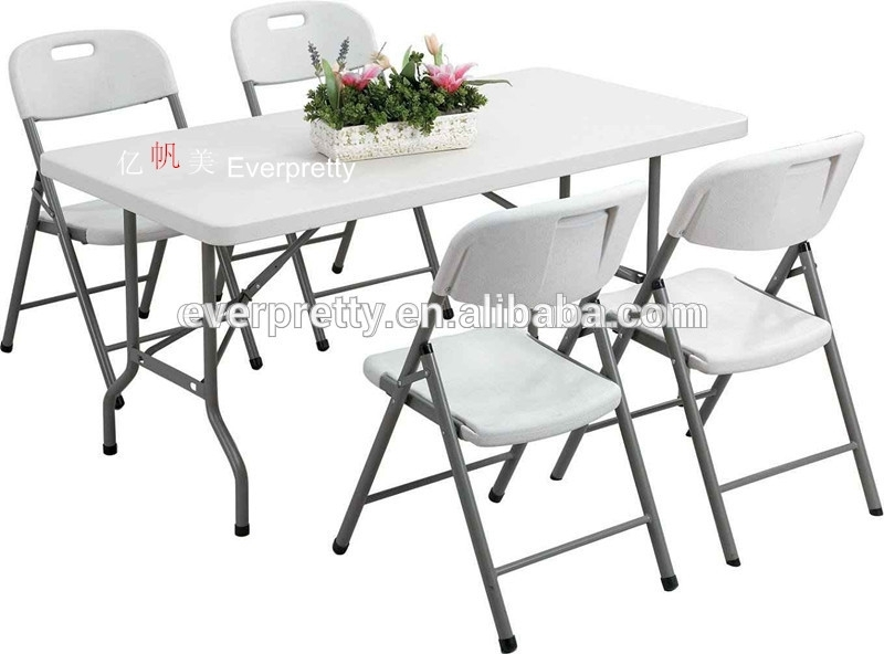 Space Saving Dining Table And Chairs /6Ft Folding Dining Table And Throughout Black Folding Dining Tables And Chairs (Image 22 of 25)