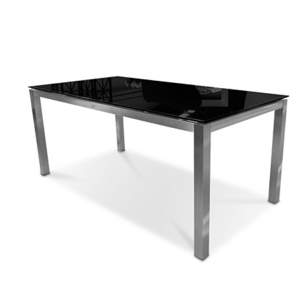 Sphere Glass Dining Table 180Cm Black With Square Black Glass Dining Tables (Image 21 of 25)