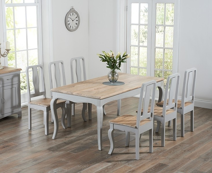 Splendid Design Ideas Grey Wood Dining Set Jaxon 6 Piece Rectangle For Jaxon Grey 6 Piece Rectangle Extension Dining Sets With Bench & Wood Chairs (View 16 of 25)