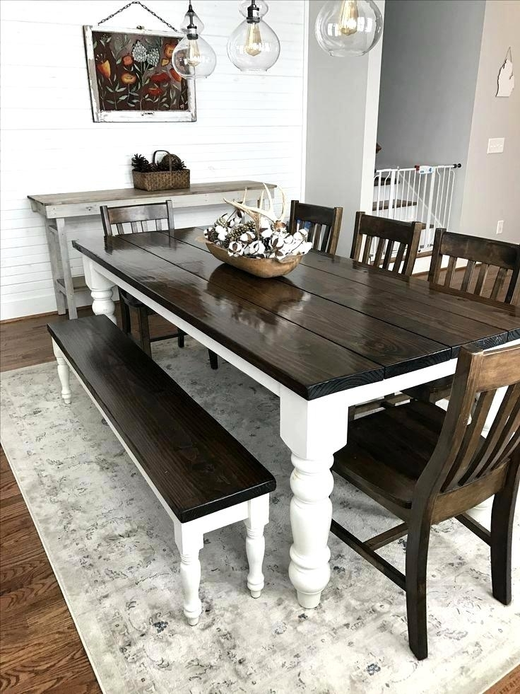 Splendid Style Reclaimed Pallet Wood Dining Table Set House Black With Regard To Dining Tables With White Legs (Image 18 of 25)
