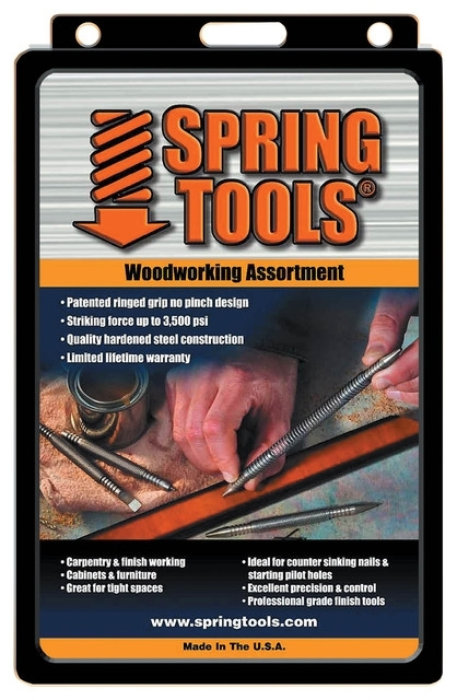 Spring Tools 5 Piece Center Punch, Nail Setter And Wood Chisel Set With Jensen 5 Piece Counter Sets (Image 25 of 25)