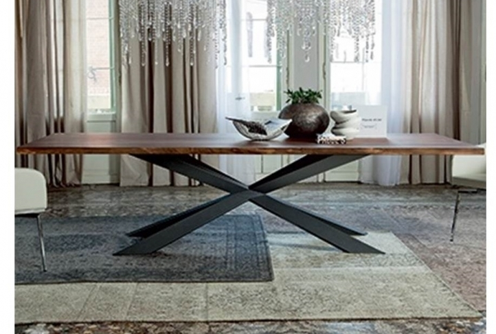 Spyder 8 Seater Walnut & Graphite Dining Table | Absolute Home Throughout 8 Seater Dining Tables (Image 25 of 25)