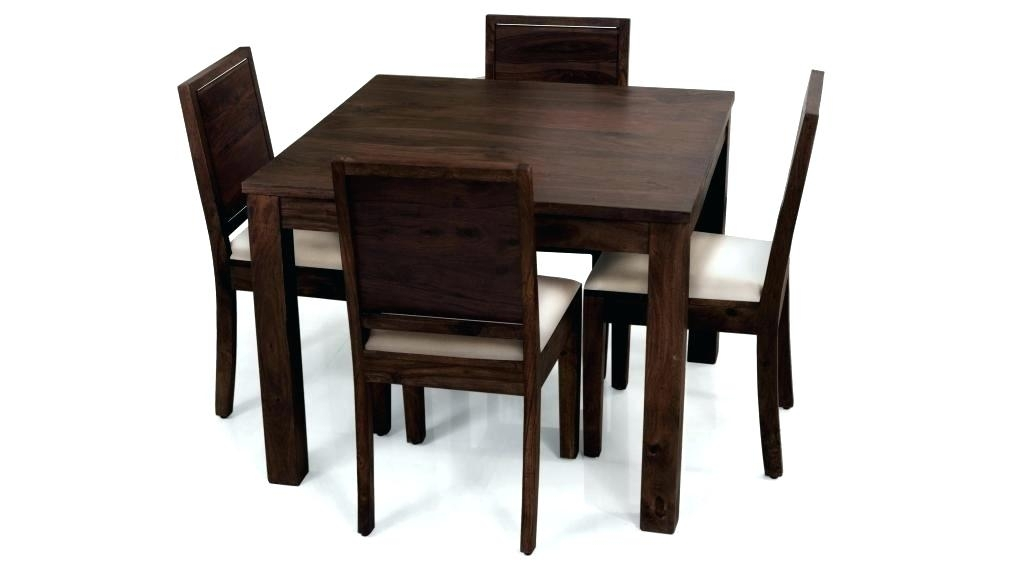 Square Black Dining Table 5 Piece Black Bar Table Set Square Dark In Dark Wood Square Dining Tables (Image 23 of 25)