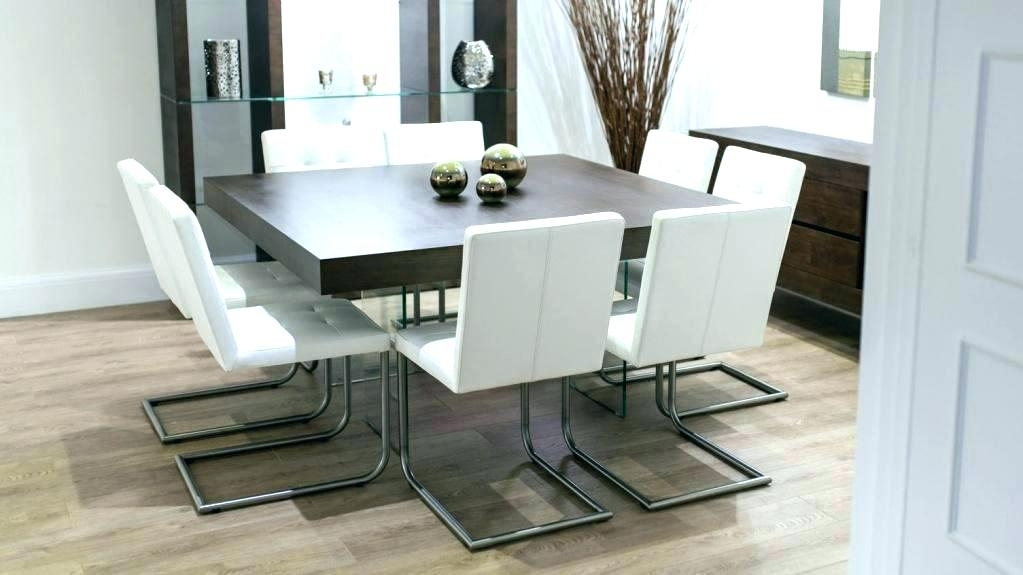 Square Dining Room Tables Dining Room Table With 8 Chairs Square For Dining Tables With 8 Chairs (Image 24 of 25)