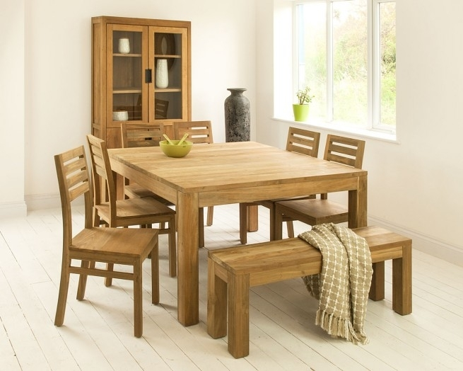 Square Dining Room Tables | Mino Teak Kitchen Table For Square Dining Tables (Image 12 of 25)