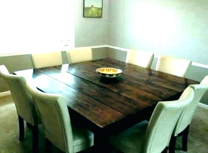 Square Dining Table 8 Seater – Bienmaigrir For Square Dining Tables (Image 13 of 25)