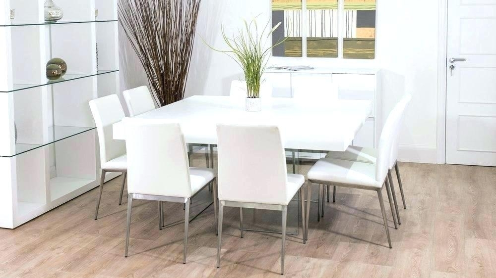 Square Dining Table 8 Seater – Bienmaigrir Within White Dining Tables 8 Seater (Image 21 of 25)