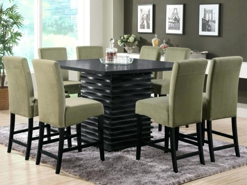 Square Dining Table For 8 Round Seats And Chairs Set Ideas 80Cm Throughout 8 Seater Round Dining Table And Chairs (Image 24 of 25)