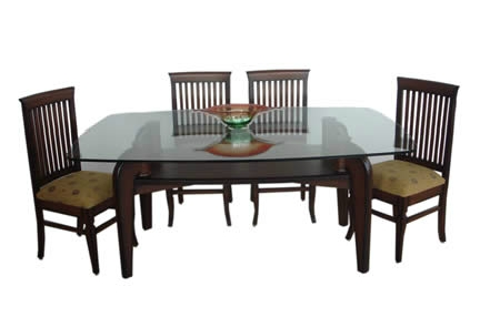 Square Dining Table Teak Wood Glass Top At Rs 24390 /piece | Square Within Wood Glass Dining Tables (Image 22 of 25)