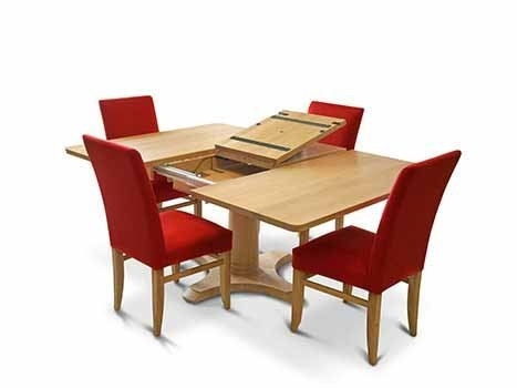 Square Dining Tables In Solid Oak & Walnut, Extending Square Tables Intended For Square Oak Dining Tables (Image 18 of 25)